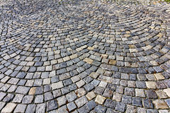 Stone paving texture. Royalty Free Stock Image