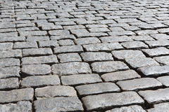 Stone paving texture. Abstract old pavement background. Royalty Free Stock Images