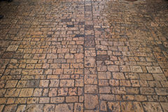 Stone brick pavers. Stone paving texture. Abstract structured background Royalty Free Stock Images