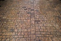 Stone brick pavers Royalty Free Stock Images