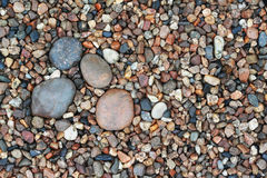Stone and pebble for background Stock Image