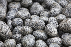 Stone pebbles. Natural stones pebbles for construction and landscaping Stock Photos