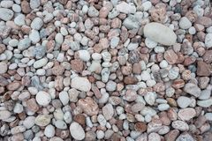 Stone pebbles texture background for interior exterior decoration and industrial construction concept stock image