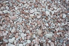 Stone pebbles texture background for interior exterior decoration and industrial construction royalty free stock photography