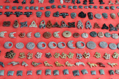 Stone pedants. Souvenirs. India Royalty Free Stock Photos