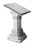 Stone pedestal isolated over white Royalty Free Stock Images