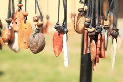 Stone pendants Royalty Free Stock Image