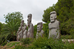 Stone people figures. In Port Aventura park, Spain Royalty Free Stock Photo