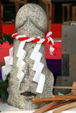 Stone phallus at shinto shrine Stock Photos