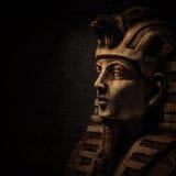 Stone pharaoh tutankhamen mask Stock Photos