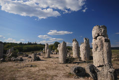 Stone phenomenon. Landscape from stone phonomenon - Pobiti kamani in Bulgaria around Varna stock photography