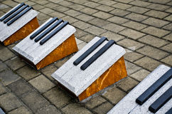 Stone for the piano keys Stock Image