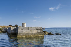 Stone pier Royalty Free Stock Photography