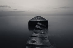 Stone pier Royalty Free Stock Image