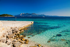 Stone pier at the cape Formentor Royalty Free Stock Photography