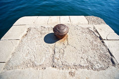 Stone pier in mediterranean village Royalty Free Stock Photography