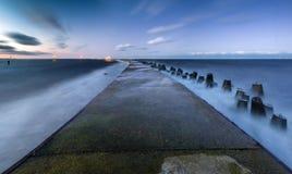 Stone pier on the sea. Baltic Sea,Poland Royalty Free Stock Photo