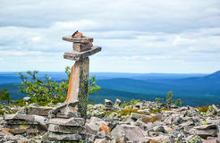 Stone pilar on Witch Mountain Stock Images