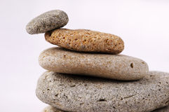 Stone pile. And one in balance Royalty Free Stock Images