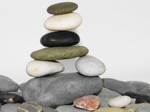 Stone pile 3. Pile of rounded stones balanced arangement Stock Photos