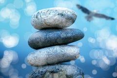 Stone pile on beach Royalty Free Stock Image