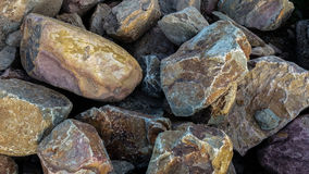 Stone pile. Pile of big stones. Closeup big rocks as background Stock Images
