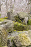 Stone pile at early spring time Royalty Free Stock Photography