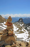 Stone pile in mountainous landscape, austria Royalty Free Stock Photography