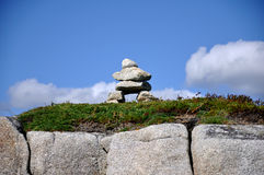 Stone Pile near Peggys Cove Stock Photography
