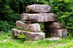 Stone pile from the Stone Age. Royalty Free Stock Photography