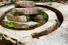 Stone-piled spiral with stone pile from the Stone Age. Stock Image