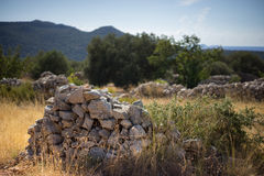 Stone Piles on the Lycian Way Royalty Free Stock Image