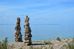 Stone piles Royalty Free Stock Photo