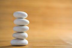 Stone piles symbolize Zen Royalty Free Stock Photography