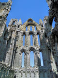 Stone Pillar of Ancient Ruined Abbey Stock Images