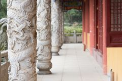 Classical Chinese corridor Stock Photography