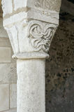 A stone pillar in the medieval church Royalty Free Stock Image