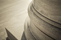 Stone Pillar and steps Royalty Free Stock Photography