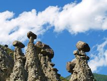 Stone pillars Stock Photography