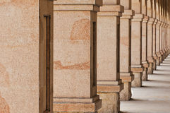 Stone  Pillars. The  photo  is   stone  Pillars, close up Royalty Free Stock Photography