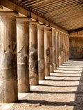 Stone pillars from an ancient era royalty free stock photography