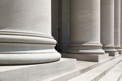 Stone pillars. Closeup view of stone pillars Royalty Free Stock Photos