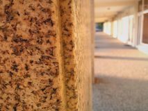 Stone pillars in a courtyard royalty free stock photography