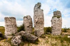 Stone pillars near the city of Varna in Bulgaria Royalty Free Stock Photo