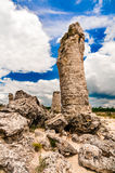 Stone pillars near the city of Varna in Bulgaria Stock Image