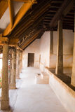 Stone pillars of an old palace. Kerala, India Royalty Free Stock Photography