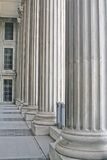 Stone Pillars Outside a Court. During the day stock photo