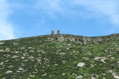 Stone Pillars. Are on the top of mountain in the middle of nowhere Stock Images