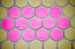 Stone pink and yellow blocks Stock Photo