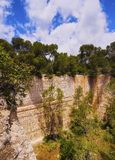 Stone-pit of Minorca Royalty Free Stock Photography